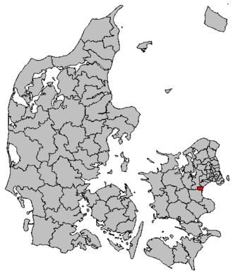 Solrød Municipality - Image: Map DK Solrød