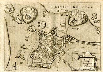 Saint-Malo - Old map of Saint-Malo