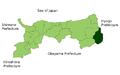 Map Wakasa, Tottori en.png