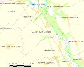 Mapa obce Vallant-Saint-Georges