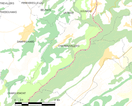 Mapa obce Charmauvillers