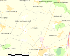 Mapa obce Rouvillers