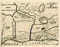 Map of Corinth area with floor plan of Acrocorinthos castle - Coronelli Vincenzo - 1688.jpg