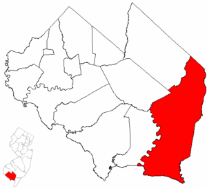 Maurice River Township, New Jersey - Image: Map of Cumberland County highlighting Maurice River Township