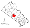 Map of Doylestown Township, Bucks County, Pennsylvania Highlighted.png
