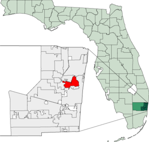 Map of Florida highlighting Oakland Park.png