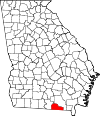 Map of Georgia highlighting Echols County.svg