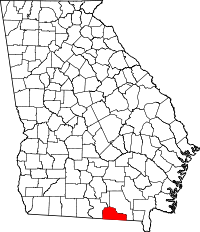 Map of Georgia highlighting Echols County