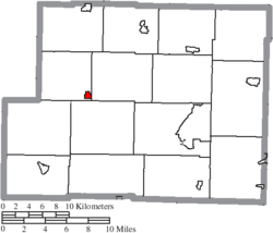 Location of Deersville in Harrison County