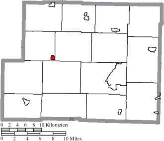 Deersville, Ohio - Image: Map of Harrison County Ohio Highlighting Deersville Village