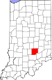 Map of Indiana highlighting Bartholomew County.svg