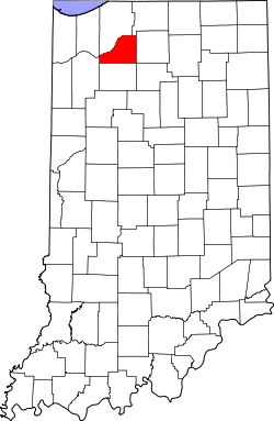 map of Indiana highlighting Starke County