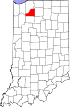 State map highlighting Starke County