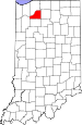 Map of Indiana highlighting Starke County.svg