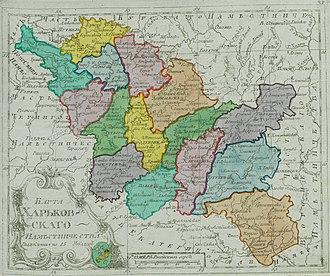 Sloboda Ukraine - Kharkov Viceroyalty in 1792