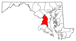 Map of Maryland highlighting Prince George's County.png