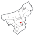 Map of Palmer Heights, Northampton County, Pennsylvania Highlighted.png
