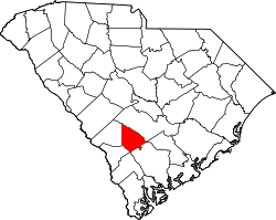 Map of South Carolina highlighting Bamberg County.svg