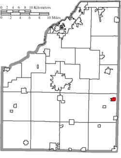 Location of Bradner in Wood County