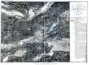 First Battle of Zurich - Map of the First Battle of Zurich, 4 June 1799