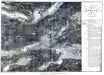 Map of the First Battle of Zurich, 4 June 1799 Map of the First Battle of Zurich.jpg