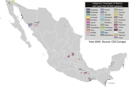 Native mexicans resource learn about share and discuss native indigenous groups and languages of mexico displaying groups with less than 20000 speakers of a native language fandeluxe Choice Image