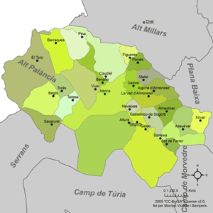 Alto Palancia - Municipalities of Alt Palància