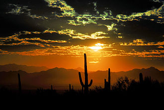 Marana, Arizona - Sunset over Marana