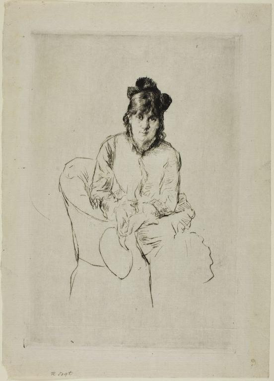 Marcellin Desboutin - Portrait Berthe Morisot