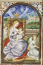 Maria Lactans, angels crowning and making music - Book of hours Simon de Varie - KB 74 G37 - 017v min.jpg