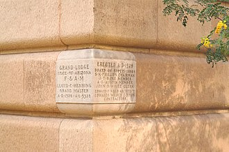 Maricopa County Courthouse - The cornerstone of the Maricopa County Courthouse