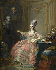 La principessa Maria Giuseppina, contessa di Provenza, moglie di Luigi Stanislao, in un ritratto di Jean-Baptiste-André Gautier d'Agoty, 1775.