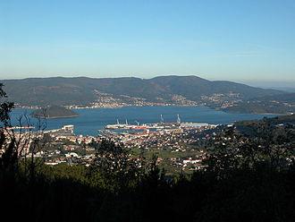 Marín, Pontevedra - Image: Marin Vista Xeral desde monte