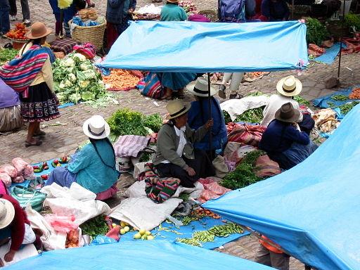 Market in Pisac Peru