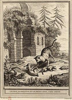 Marvie-Oudry-La Fontaine-Le chat, la belette et le petit lapin.jpg
