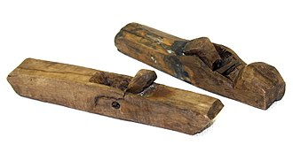 Plane (tool) - A pair of wooden planes found on board the 16th century carrack Mary Rose.