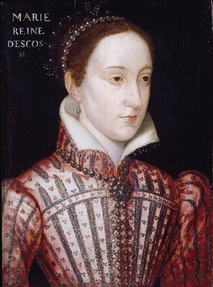 Mary, Queen of Scots wearing a rope of black pearls Mary Stuart Queen.jpg