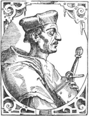 Matthäus Schiner - Portrait by Tobias Stimmer (d. 1584)