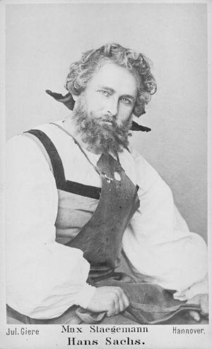 Die Meistersinger von Nürnberg - Max Staegemann (1843-1905) as Hans Sachs in Die Meistersinger von Nürnberg, before 1876