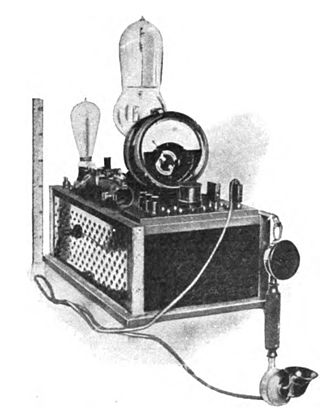 Amplitude modulation - One of the first vacuum tube AM radio transmitters, built by Meissner in 1913 with an early triode tube by Robert von Lieben. He used it in a historic 36 km (24 mi) voice transmission from Berlin to Nauen, Germany. Compare its small size with above transmitter.