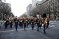 Members of the U.S. Army Band march down Pennsylvania Avenue during the dress rehearsal for the presidential inaugural parade in Washington, D.C 130113-A-XO421-028.jpg