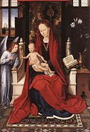Memling Virgin Enthroned with Child and Angel.jpg