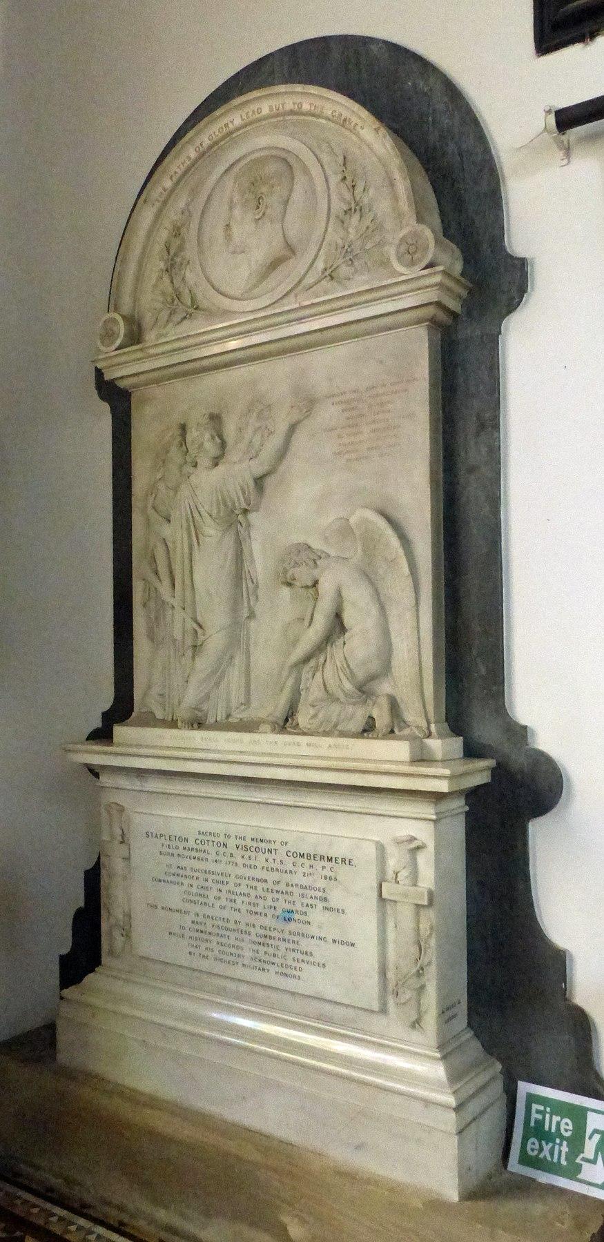 Memorial to Stapleton Cotton, 1st Viscount Combermere
