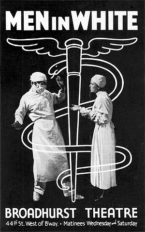 Men in White (play) - Handbill for the original Broadway production