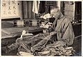 Mending fishing nets in Japan (1914 by Elstner Hilton).jpg