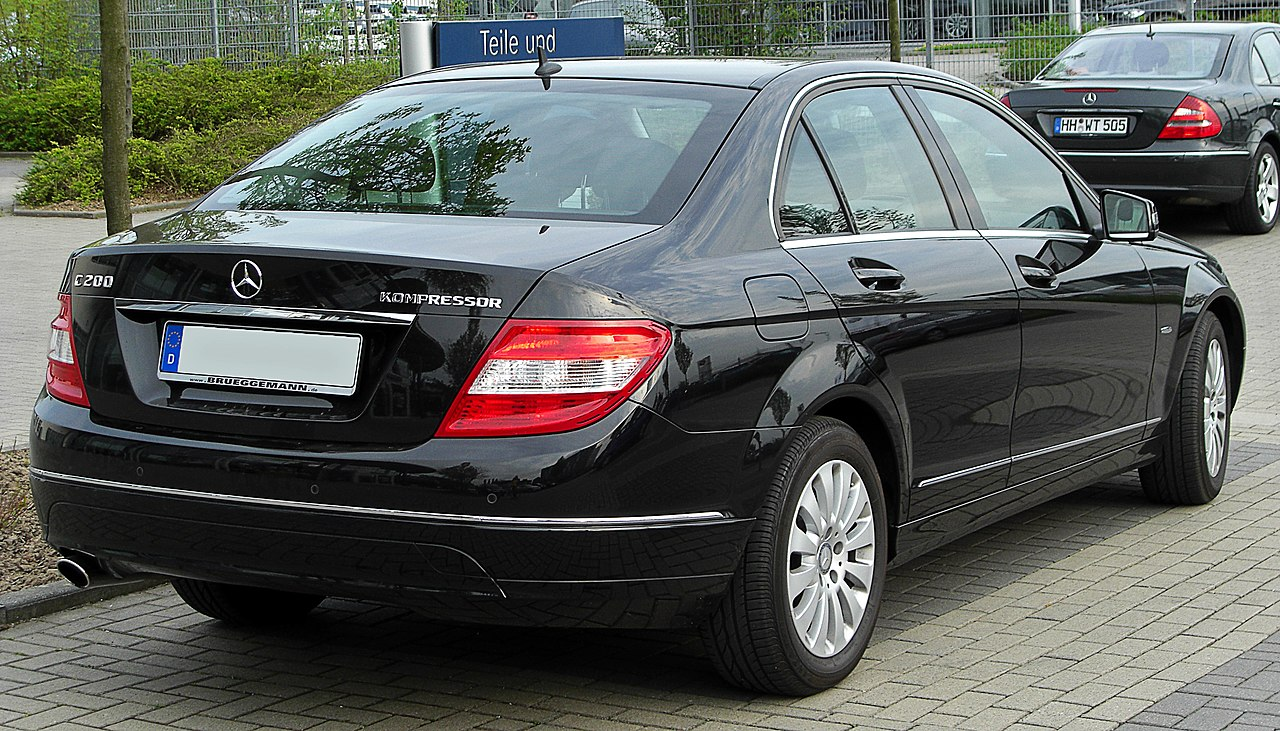 file mercedes c 200 kompressor elegance w204 rear. Black Bedroom Furniture Sets. Home Design Ideas