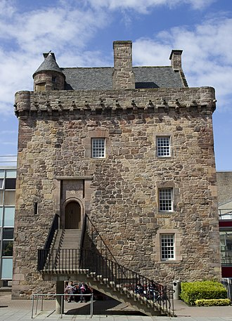 Edinburgh Napier University - Merchiston Castle in the centre of Merchiston Campus