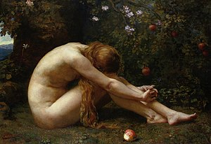 Love Locked Out - Eve Overcome with Remorse, 1885