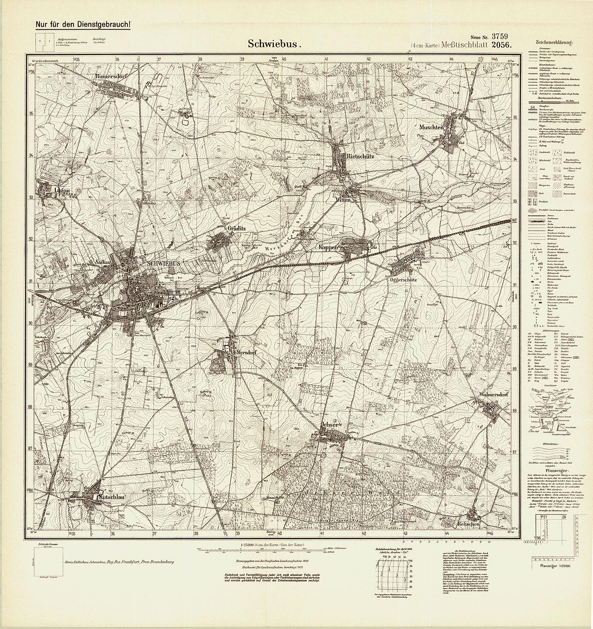 Topographische Karte Nrw.Messtischblatt Wikipedia