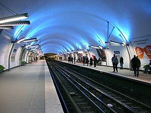 Gambetta (Paris Métro) - Image: Metro de Paris Ligne 3 Gambetta 01